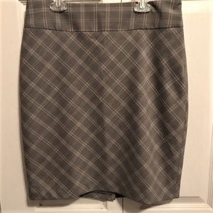 THE LIMITED Size 6 Pencil Skirt Black Brown Cream